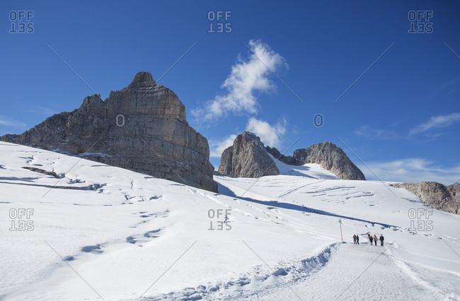Austria- Styria- Salzkammergut- Dachstein massif- Hoher Dachstein- hiking trail