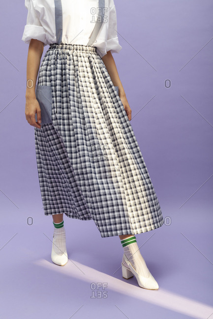 Studio shot of a model with a skirt