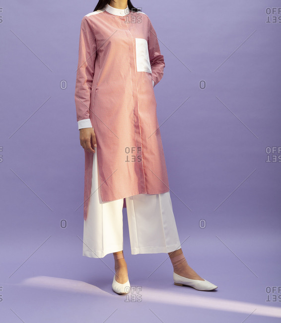 Studio shot of a model with a culottes