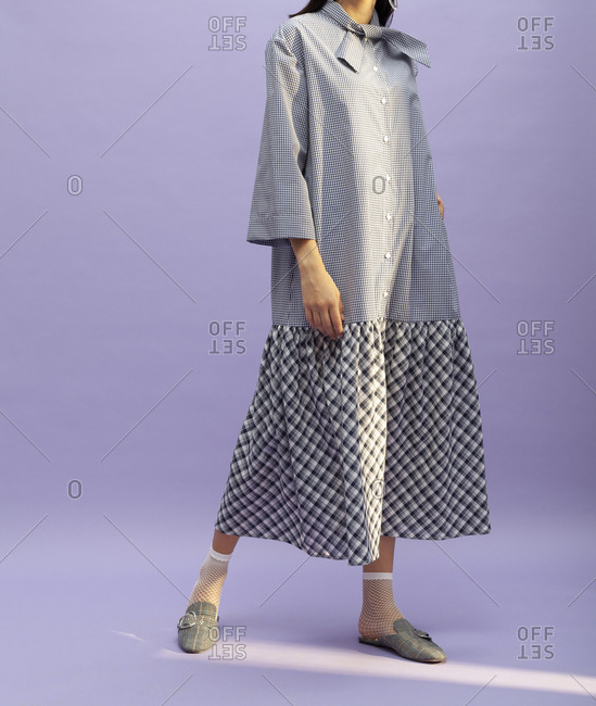 Studio shot of a model with a dress