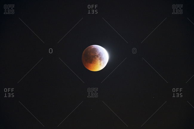 Super blood moon during lunar eclipse