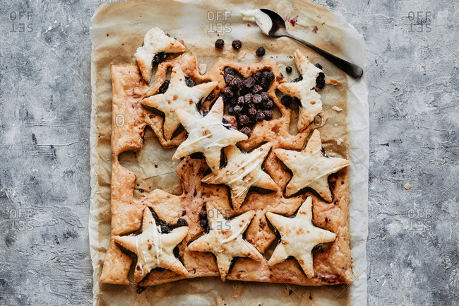 American flag handpies with blueberry compote