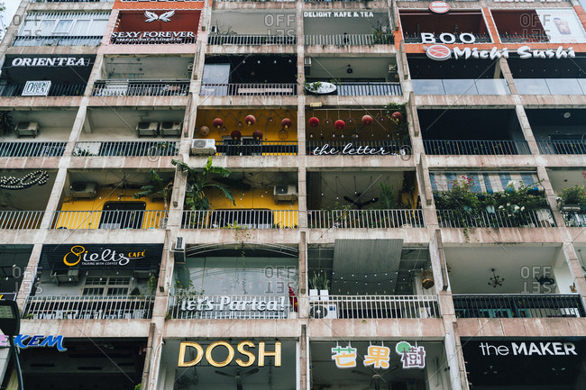 Ho Chi Minh City, Vietnam - November 01, 2018: The exterior of 42 Nguyen Hue in Saigon