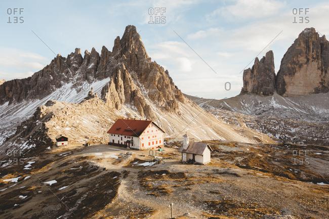 Majestic landscape of the top of a mountain, Tre Cime di Lavared, Dolomiti