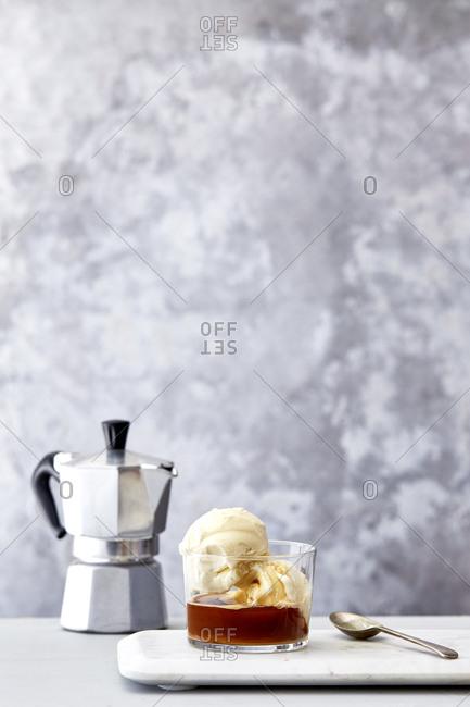 Affogato with moka pot