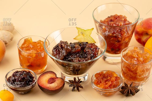 Fresh fruits jams