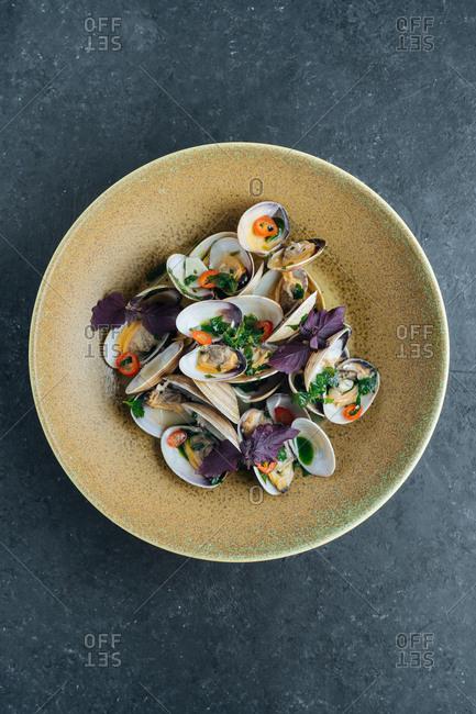 Gourmet clam dish