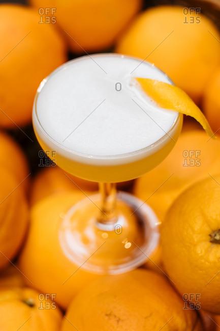 Cocktail on lemons