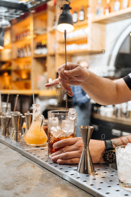 Bartender preparing a drinks