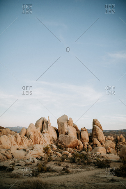 Desert landscape with rock formations