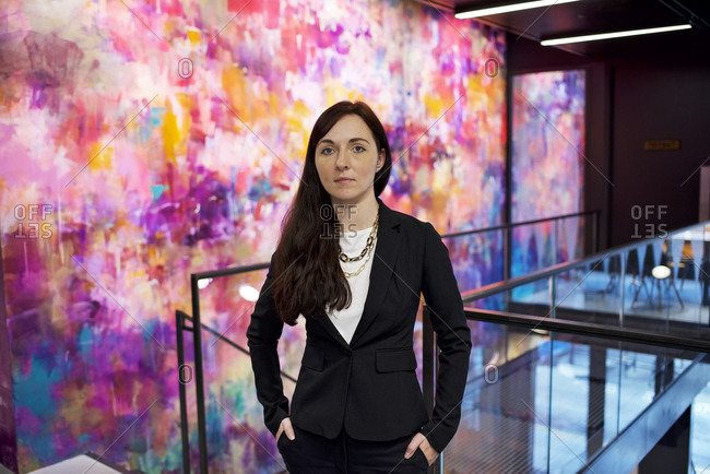 Portrait of a businesswoman inside a modern office