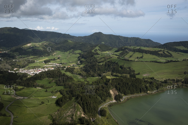 View over Furnas in the Azores islands