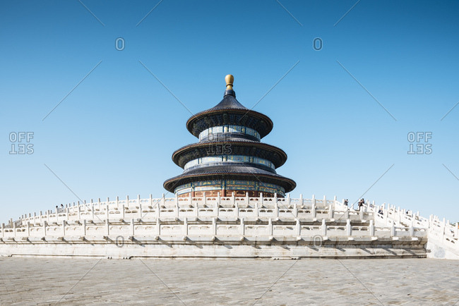 April 15, 2018: Hall of Prayer for Good Harvests, Temple of Heaven, UNESCO World Heritage Site, Beijing, China, Asia