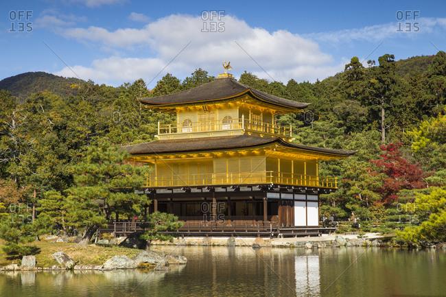 November 11, 2015: Kinkaku (The Golden Pavilion), UNESCO World Heritage Site, Kyoto, Japan, Asia