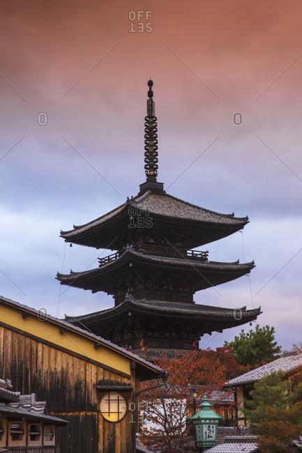 November 18, 2015: Yasaka Pagoda, Gion, Kyoto, Japan, Asia