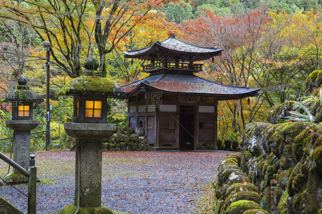 November 15, 2015: Otagi Nenbutsu-ji Temple, Arashiyama, Kyoto, Japan, Asia