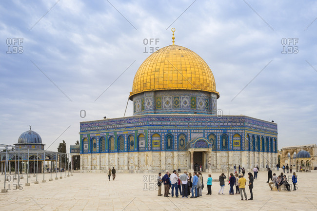 March 13, 2016: Dome of the Rock, Temple Mount, Old City, UNESCO World Heritage Site, Jerusalem, Israel, Middle East