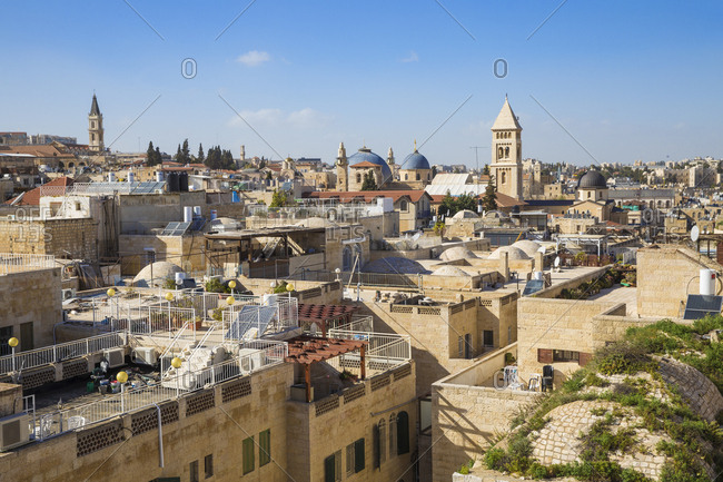 March 14, 2016: View of Jewish quarter, Old City, UNESCO World Heritage Site, Jerusalem, Israel, Middle East