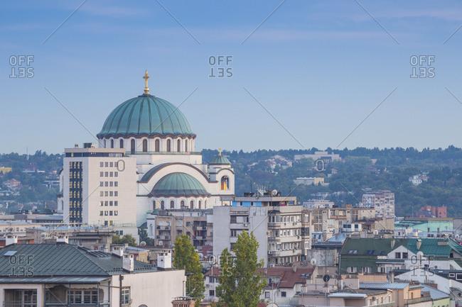 View of St. Sava Orthodox Temple, Belgrade, Serbia, Europe