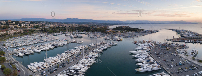 September 9, 2018: Fort Carre and Antibes Harbour, Provence-Alpes-Cote d'Azur, French Riviera, France, Mediterranean, Europe