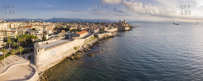 September 9, 2018: Antibes, Provence-Alpes-Cote d'Azur, French Riviera, France, Mediterranean, Europe