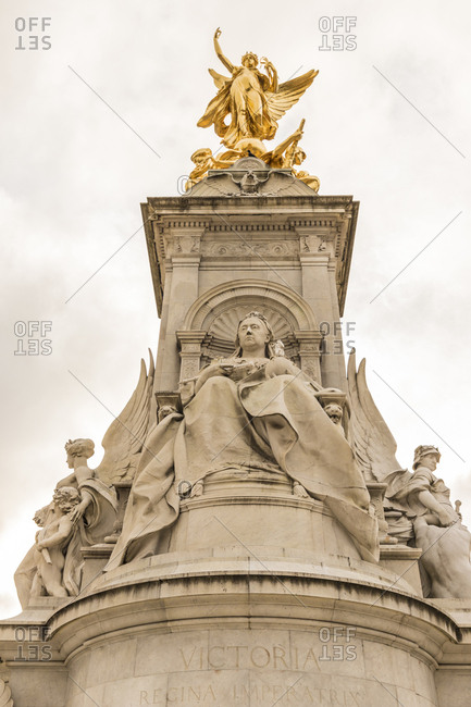 The Queen Victoria Memorial at Buckingham Palace, London, England, United Kingdom, Europe