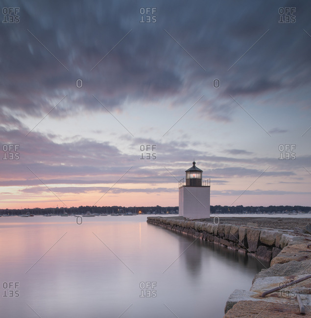 Derby Wharf Lighthouse, Salem, Massachusetts, New England, United States of America, North America