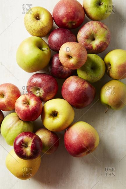 Apples on light background