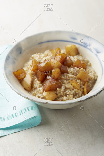 Homemade oats and apples