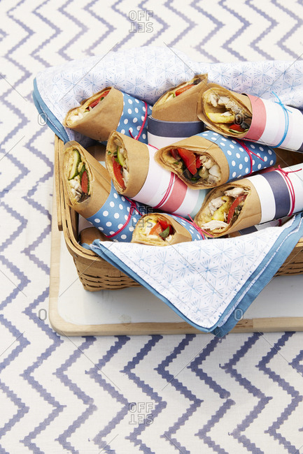 Fourth of July sandwich wraps