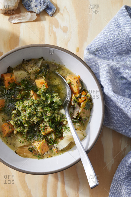 Healthy stew with carrots