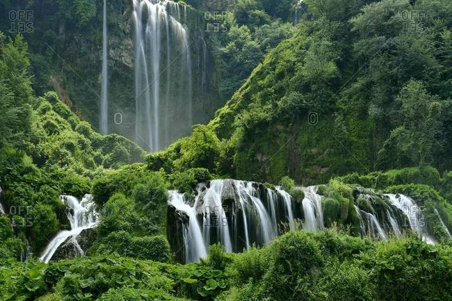 Man-made waterfall, Marmore Waterfalls, Cascate delle Marmore, Umbria, Italy, Europe