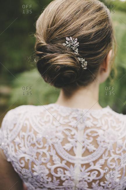 Detail of bride's hair
