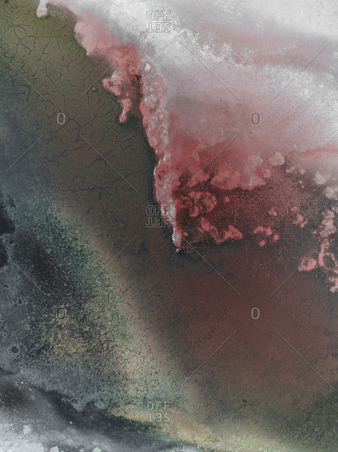 Abstract view of salt ponds in Spain