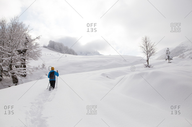 Person hiking on Visocica Mountain