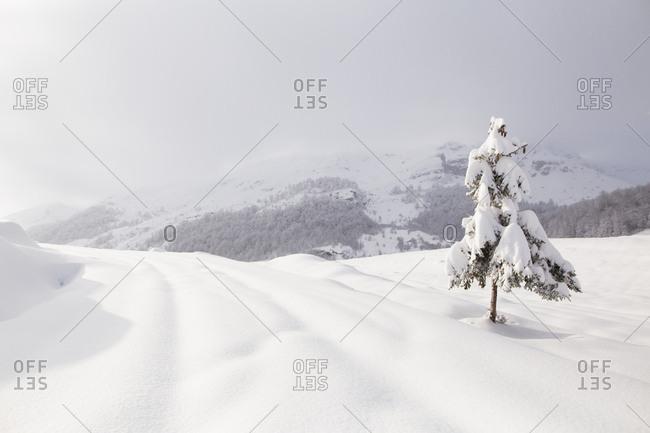 Winter landscape on Visocica Mountain