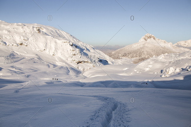 Beautiful winter landscape on Visocica Mountain