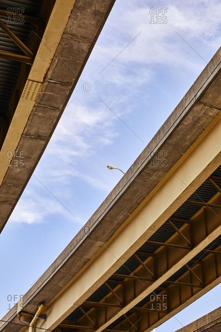 Rusty skywalk in Pittsburgh, Pennsylvania