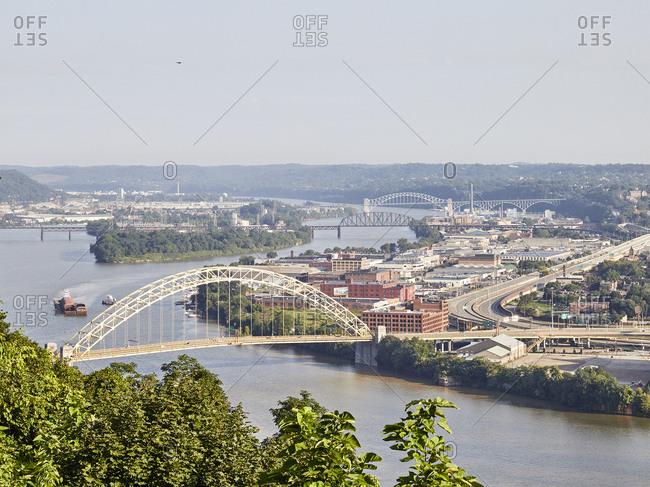 Pittsburgh, Pennsylvania - August 12, 2018: Old brick building in Pittsburgh, Pennsylvania