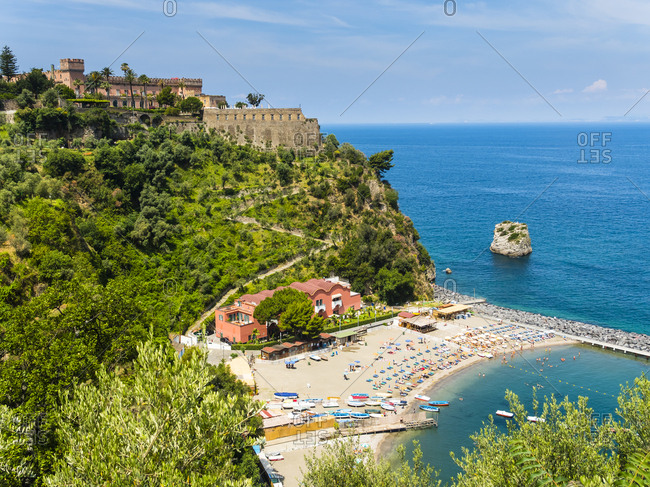 Italy- Campania- Naples- Gulf of Naples- View from Castellammare de Stabia to Marina di Vico