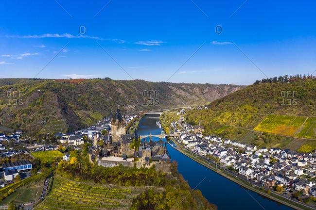 Germany- Rhineland-Palatinate- Cochem- Moselle river- Cochem Imperial castle