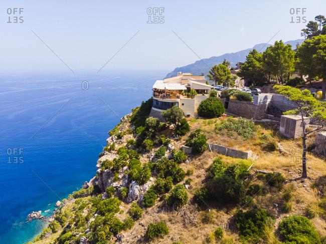 Spain- Baleares- Mallorca- Region Andratx- West Coast- Serra de Tramuntana- Mirador de Ricardo Roca