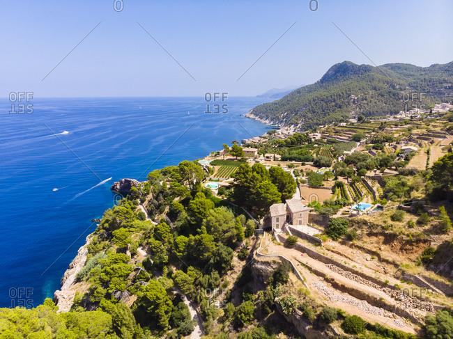 Spain- Baleares- Mallorca- Region Banyalbufar- West Coast- Serra de Tramuntana