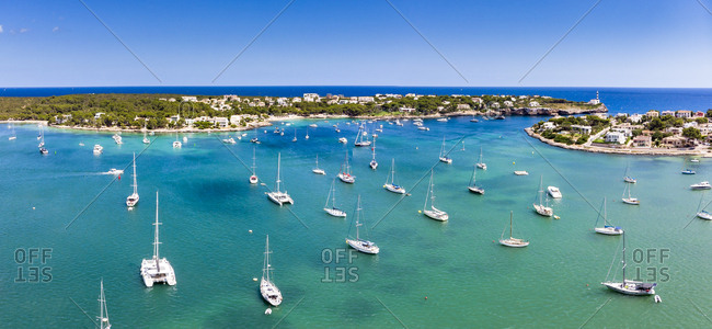 Spain- Baleares- Mallorca- Portocolom- Punta de ses Crestes- Bay of Portocolom