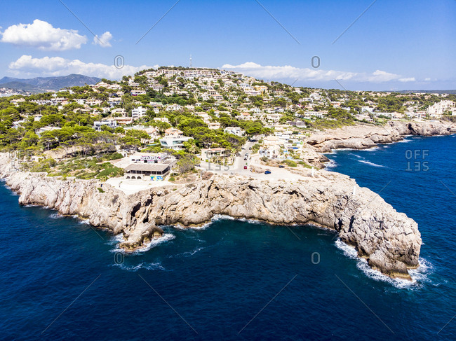 Spain- Baleares- Mallorca- Region Calvia- Aerial view of Santa Ponca
