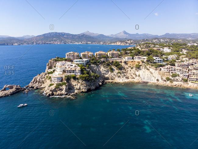 Spain- Baleares- Mallorca- Region Calvia- Aerial view of islas Malgrats and Santa Ponca
