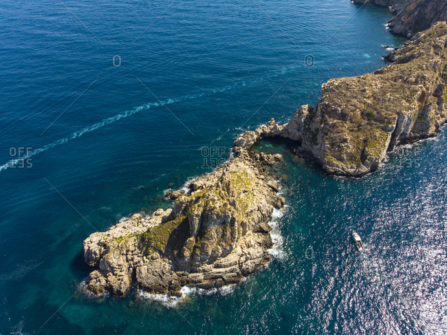Spain- Baleares- Mallorca- Region Calvia- Aerial view of Islas Malgrats