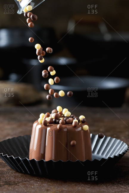Chocolate pudding with