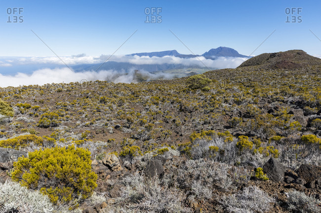 Reunion- Reunion National Park- Piton de la Fournaise- Route du volcan- Plaine des Remparts and Piton des Neiges