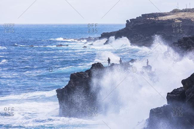 Reunion- West Coast- rocky coast at Souffleur
